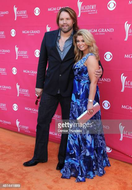 Musician James Otto and wife Amy arrive at the 44th annual Academy Of Country Music Awards held at the MGM Grand on April 5 2009 in Las Vegas Nevada