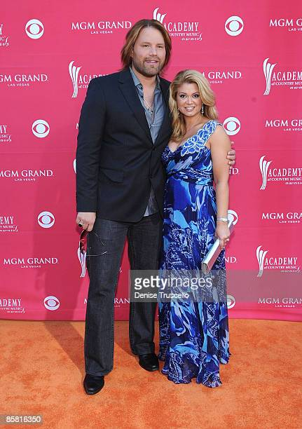 Musician James Otto and wife Amy arrives at the 44th annual Academy Of Country Music Awards held at the MGM Grand on April 5 2009 in Las Vegas Nevada
