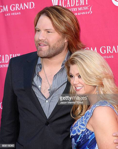 Musician James Otto and wife arrive at the 44th annual Academy Of Country Music Awards held at the MGM Grand on April 5 2009 in Las Vegas Nevada