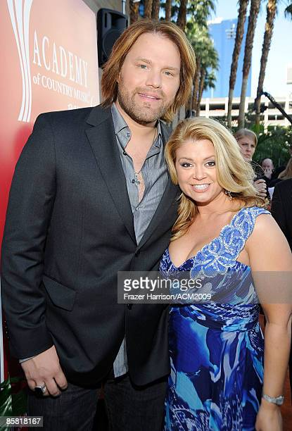 Musician James Otto and wife arrives on the red carpet at the 44th annual Academy Of Country Music Awards held at the MGM Grand on April 5 2009 in...