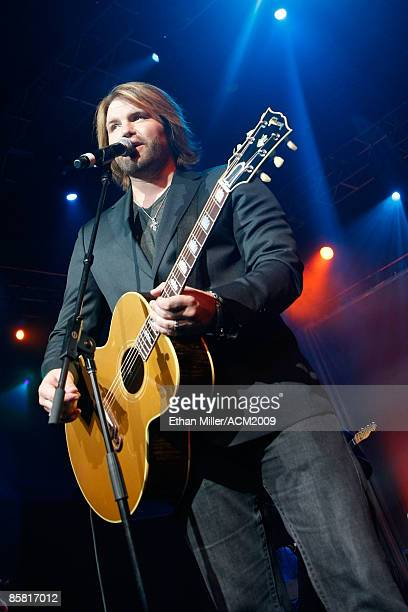 Musician James Otto performs during the 44th annual Academy Of Country Music Awards AllStar Jam held at the MGM Grand on April 5 2009 in Las Vegas...