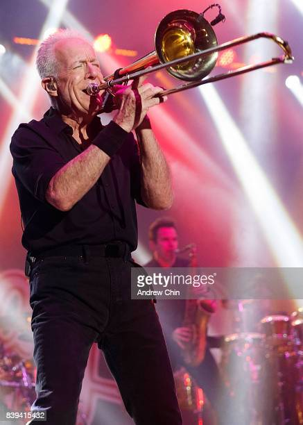 Musician James Pankow of Chicago performs on stage during Summer Night Concert Series at PNE Amphitheatre on August 25 2017 in Vancouver Canada