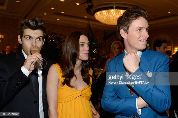 Musician James Righton actors Keira Knightley and Eddie Redmayne attend the BAFTA Los Angeles Tea Party at The Four Seasons Hotel Los Angeles At...