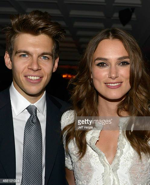 Musician James Righton and actress Keira Knightley attend The Grey Goose Party for The Weinstein Company and Elevation Pictures' Imitation Game at...