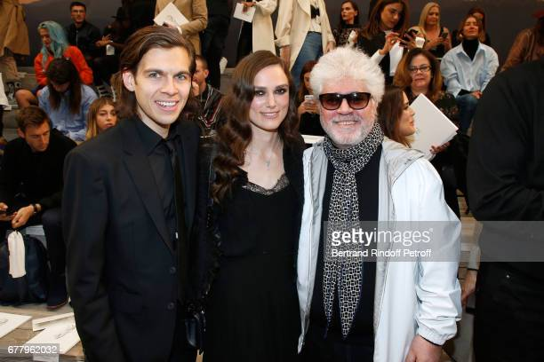 Musician James Righton his wife actress Keira Knightley and Director Pedro Almodovar attend the Chanel Cruise 2017/2018 Collection Show at Grand...