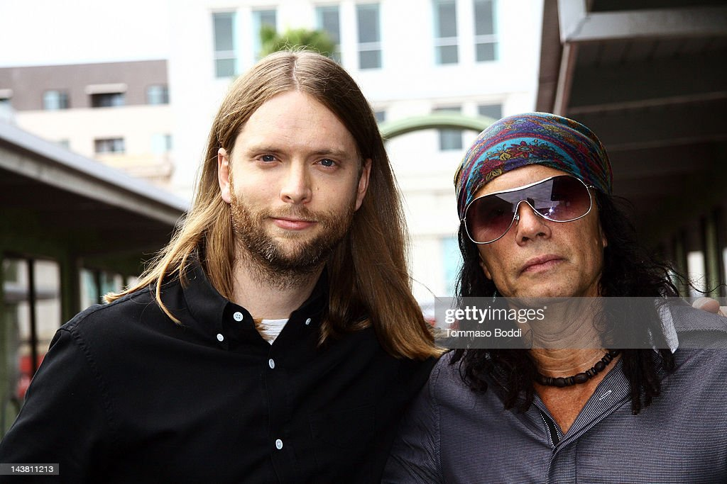 Musician James Valentine Of Maroon 5 (L) And Wayne Jobson Attend The MI  Conversation
