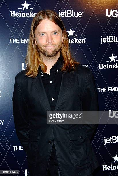 Musician James Valentine of Maroon 5 arrives at UG with The Embassy present 2012 GRAMMYS celebration at Hollywood Roosevelt Hotel on February 11 2012...