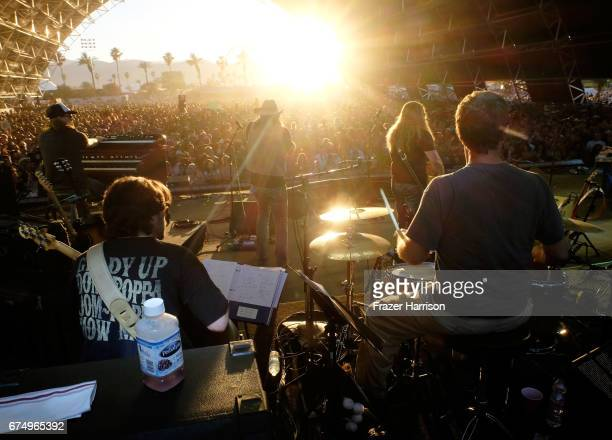 Musician Jamey Johnson performs on the Palomino Stage during day 2 of 2017 Stagecoach California's Country Music Festival at the Empire Polo Club on...