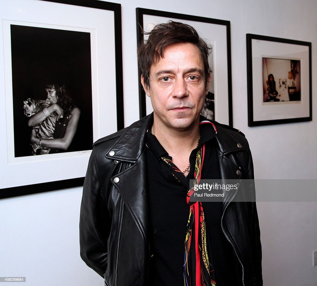 Musician Jamie Hince of The Kills attends the reception celebrating the book launch for 'Echo Home' by Jamie Hince of The Kills at Morrison Hotel Gallery on November 1, 2014 in West Hollywood, California.