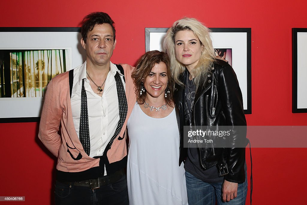 Musician Jamie Hince, Rational Animal founder Susan Brandt and musician Alison Mosshart attend Jamie Hince's 'Echo Home' Exhibition Opening at Morrison Hotel Gallery on June 10, 2014 in New York City.