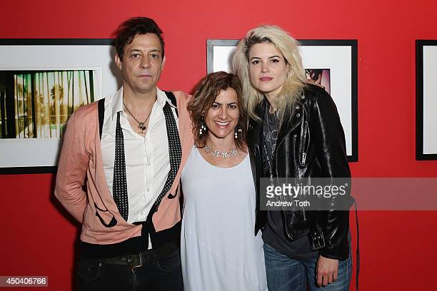 Musician Jamie Hince Rational Animal founder Susan Brandt and musician Alison Mosshart attend Jamie Hince's 'Echo Home' Exhibition Opening at...