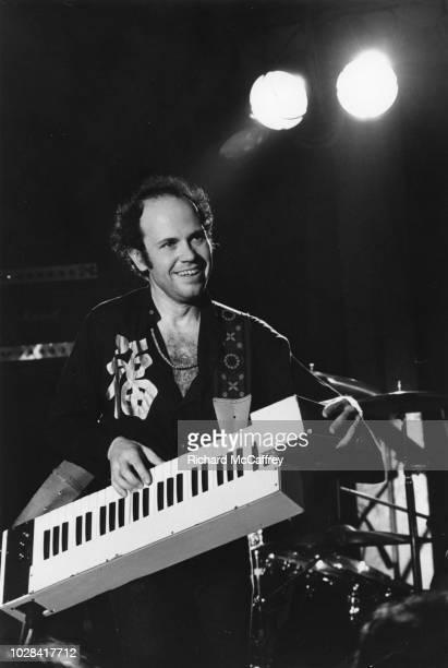 Musician Jan Hammer plays keytar as he performs onstagen 1977 in San Francisco, California.