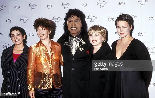 Musician Jane Wiedlin musician Kathy Valentine musician Gina Shock musician Belinda Carlisle and musician Little Richard attend the 22nd Annual...