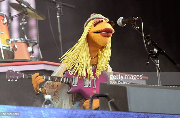 Musician Janice of the Muppets perform onstage with Dr Teeth and the Electric Mayhem at Golden Gate Park on August 7 2016 in San Francisco California