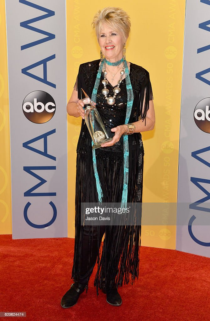 Musician Janie Fricke attends the 50th annual CMA Awards at the Bridgestone Arena on November 2, 2016 in Nashville, Tennessee.