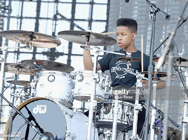 Musician Jarad Dawkins of Unlocking the Truth performs onstage during day 2 of the 2014 Coachella Valley Music Arts Festival at the Empire Polo Club...