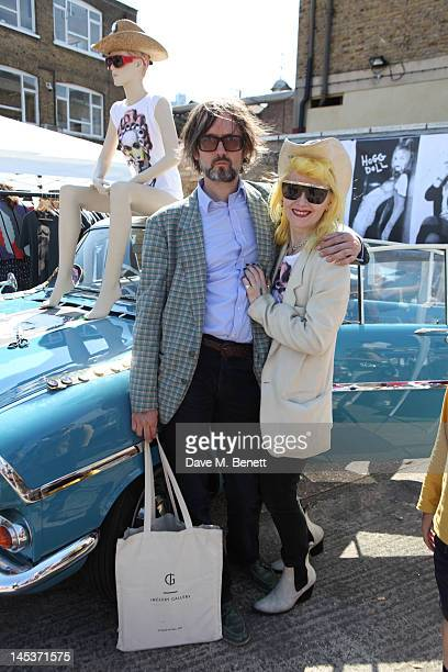 Musician Jarvis Cocker and designer Pam Hogg attend the 2012 Vauxhall Art Car Boot Fair at the Old Truman Brewery Brick Lane on May 27 2012 in London...