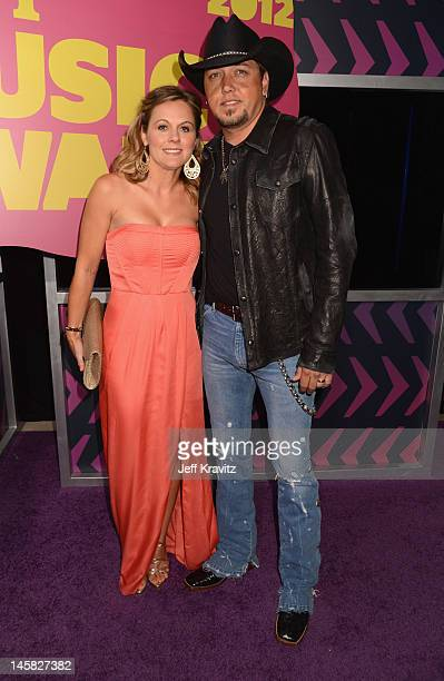 Musician Jason Aldean and Jessica Aldean attend the 2012 CMT Music awards at the Bridgestone Arena on June 6, 2012 in Nashville, Tennessee.