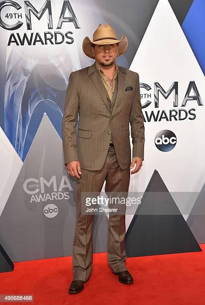 Musician Jason Aldean attends the 49th annual CMA Awards at the Bridgestone Arena on November 4, 2015 in Nashville, Tennessee.