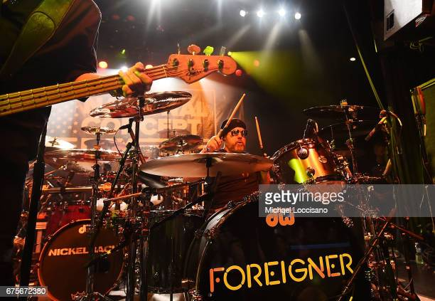 Musician Jason Bonham performs with Foreigner during Live Nation's celebration of The 3rd Annual National Concert Day at Irving Plaza on May 1 2017...