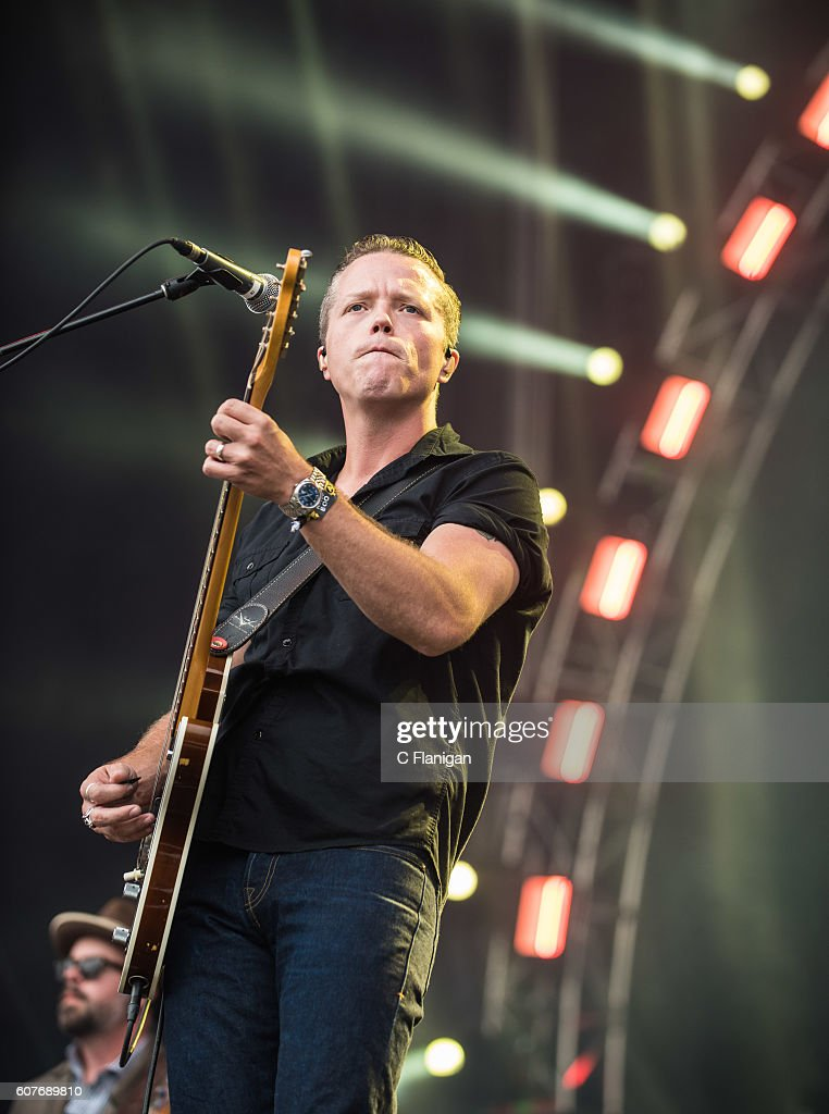 Musician Jason Isbell performs on the Sunset Cliffs Stage during the 2016 KAABOO Del Mar at the Del Mar Fairgrounds on September 18, 2016 in Del Mar, California.