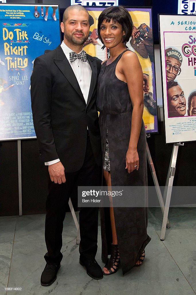 Musician Jason Moran and Alicia Hall Moran attend The Museum of Modern Art's Jazz Interlude Gala at MOMA on December 12, 2012 in New York City.