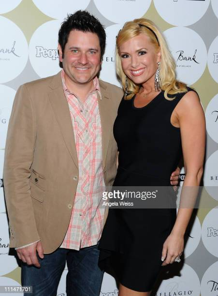 Musician Jay DeMarcus from the musical group Rascal Flatts and his wife Allison Alderson attend a celebration of Nashville in Vegas with PEOPLE...