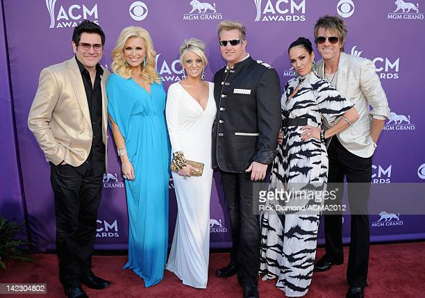 Musician Jay DeMarcus of Rascal Flatts Allison Alderson Tara Vernon musician Gary LeVox of Rascal Flatts Tiffany Fallon and musician Joe Don Rooney...