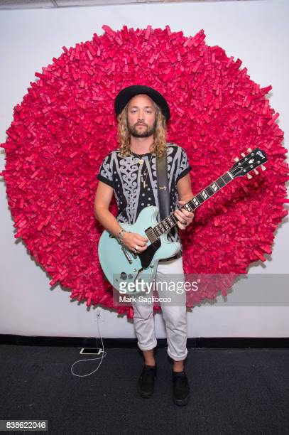 Musician Jay Sheppard of 'The Family Portrait' attends the Contemporary Figurative Expressionist Artist's Fernando Garcia Debut Reception at 326...