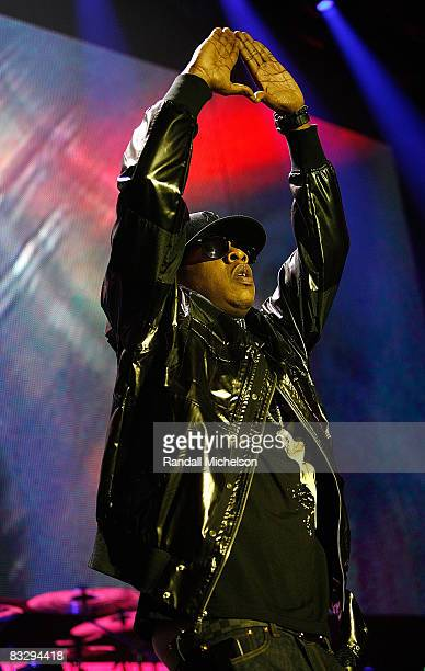Musician Jay-Z performs at the Grand Reopening of the The Palladium with a Special Performance by Jay-Z in Los Angeles California on October 15, 2008.