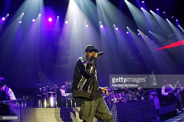 Musician JayZ performs at the Grand Reopening of the The Palladium with a Special Performance by JayZ in Los Angeles California on October 15 2008
