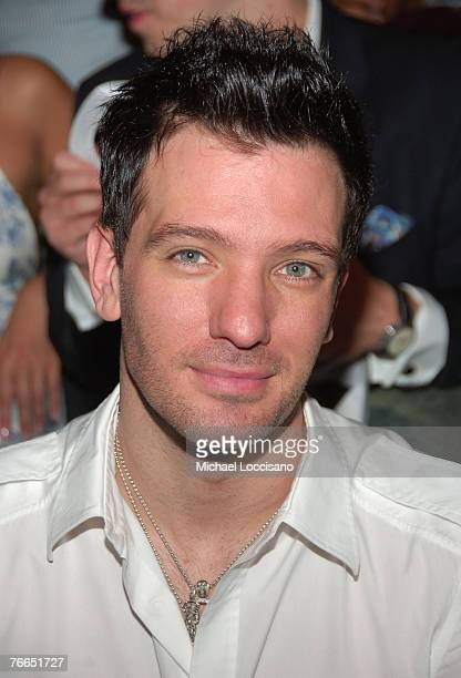 Musician JC Chasez at Rosa Cha by Amir Slama Spring 2008 during MercedesBenz Fashion Week at the Tent Bryant Park on September 8 2007 in New York City