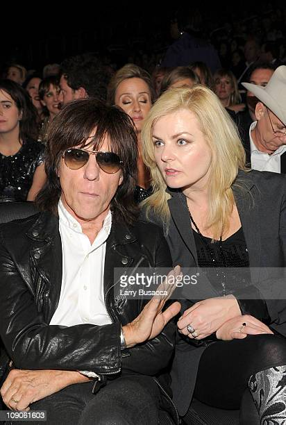 Musician Jeff Beck and Sandra Cash attend The 53rd Annual GRAMMY Awards held at Staples Center on February 13 2011 in Los Angeles California