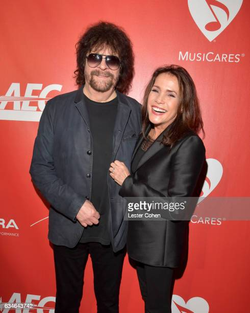 Musician Jeff Lynne and Camelia Kath attend MusiCares Person of the Year honoring Tom Petty at the Los Angeles Convention Center on February 10 2017...