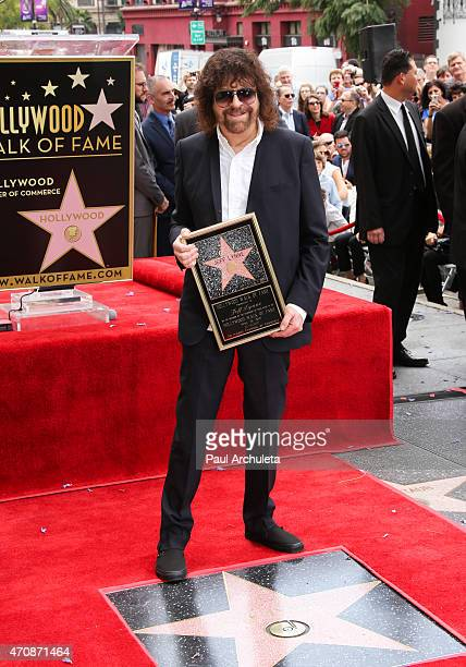 Musician Jeff Lynne is honored with a Star on The Hollywood Walk of Fame on April 23 2015 in Hollywood California