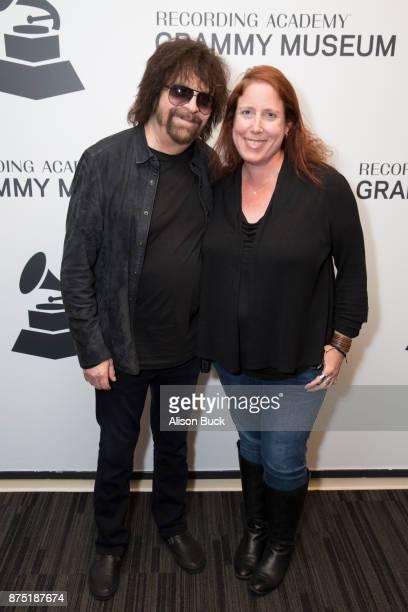 Musician Jeff Lynne of ELO and Senior Director Public Programs Artist Relations at The Grammy Museum Lynne Sheridan attend Reel to Reel Jeff Lynne's...