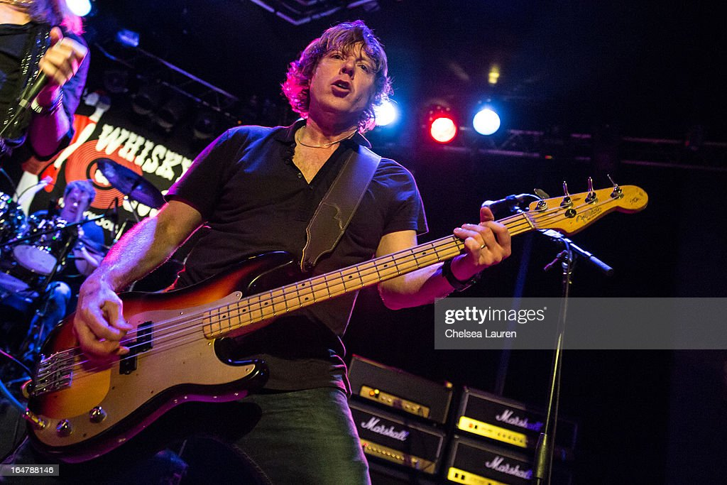 Musician Jeff Pilson of Foreigner and Dokken performs at the Rock Against MS benefit concert at The Whisky a Go Go on March 27, 2013 in West Hollywood, California.