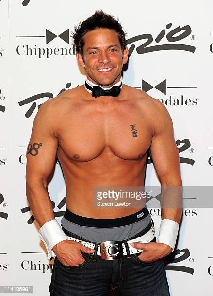 Musician Jeff Timmons of 98 Degrees arrives to perform with the Chippendales show at the Rio Hotel and Casino on May 12 2011 in Las Vegas Nevada