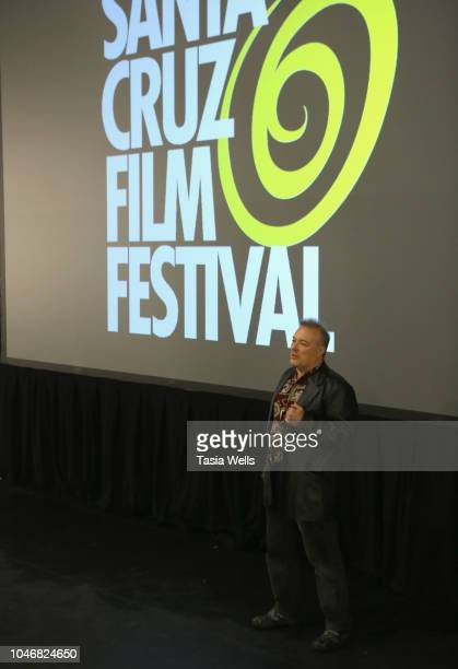 Musician Jello Biafra speaks onstage at the premiere of 'Industrial Accident The Story of Wax Trax Records' at the 2018 Santa Cruz Film Festival on...