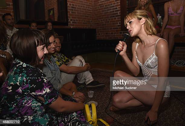 Musician Jena Malone of The Shoe performs during For Love and Lemons annual SKIVVIES party cohosted by Too Faced and performance by The Shoe at The...