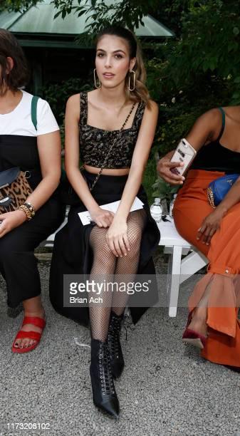 Musician Jena Rose is seen during the Burnett fashion show at Elizabeth Street Gardens on September 08 2019 in New York City