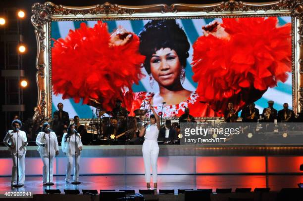 Musician Jennifer Hudson performs onstage at BET Honors 2014 at Warner Theatre on February 8 2014 in Washington DC