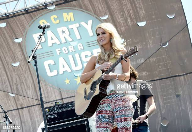 Musician Jennifer Wayne of Runaway June performs onstage at the ACM Party For A Cause Tailgate Party on April 1 2017 in Las Vegas Nevada