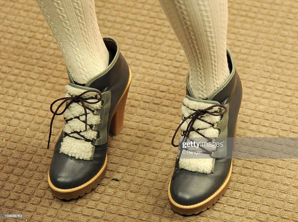 Musician Jenny Lewis (shoe detail) attends the 'Very Good Girls' premiere at Eccles Center Theatre during the 2013 Sundance Film Festival on January 22, 2013 in Park City, Utah.
