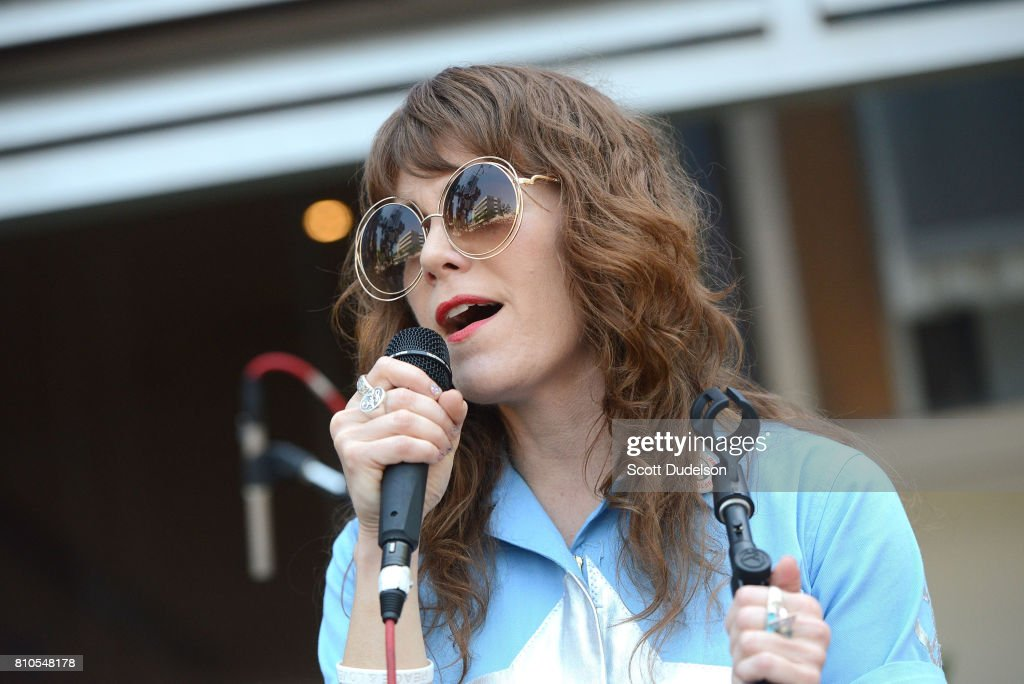 Musician Jenny Lewis performs onstage during Ringo Starr's 77th birthday at the annual 'Peace & Love' celebration at Capitol Records Tower on July 7, 2017 in Los Angeles, California.