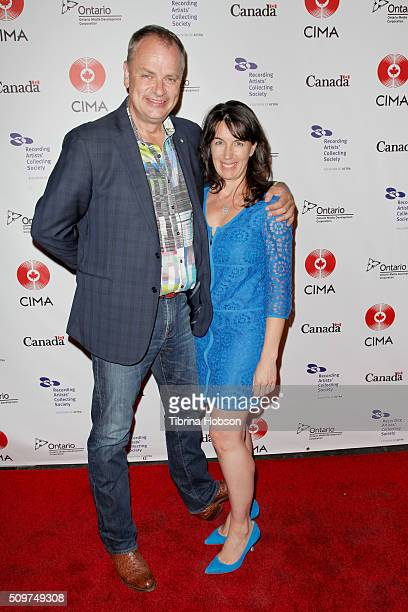 Musician Jens Lindemann and Jennifer Snow attend Canada's Grammy Night at Raleigh Studios on February 11 2016 in Los Angeles California
