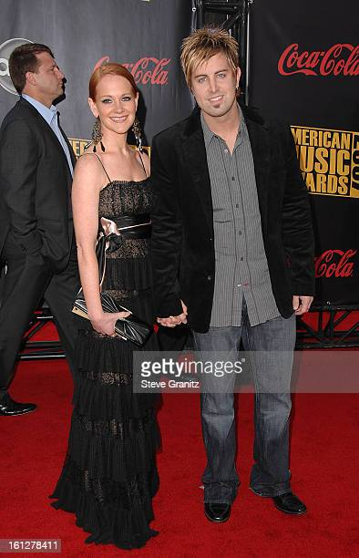 Musician Jeremy Camp and wife Adrienne Camp arrive to the 2007 American Music Awards at the Nokia Theatre on November 18, 2007 in Los Angeles,...