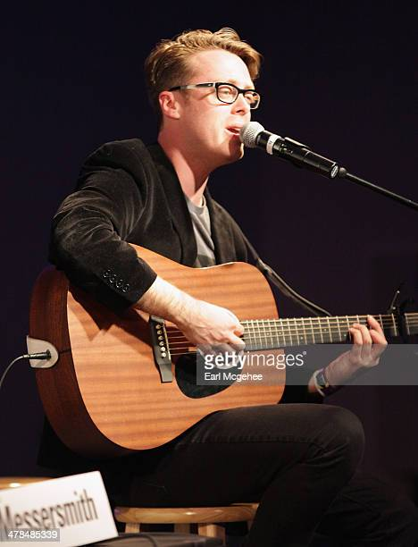 Musician Jeremy Messersmith performs onstage at Warehouse Songs and Stories during the 2014 SXSW Music Film Interactive at Austin Convention Center...