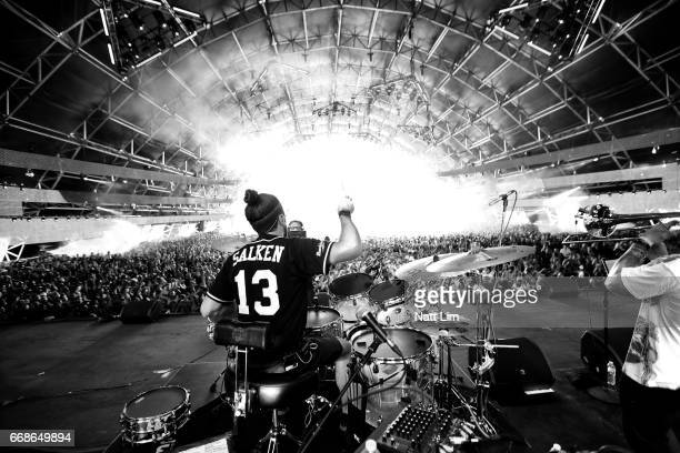 Musician Jeremy Salken of Big Gigantic performs on the Sahara Stage during day 1 of the Coachella Valley Music And Arts Festival at the Empire Polo...