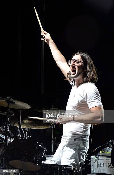 Musician Jeremy Salken of Big Gigantic performs onstage during day 2 of the Life is Beautiful festival on October 27 2013 in Las Vegas Nevada